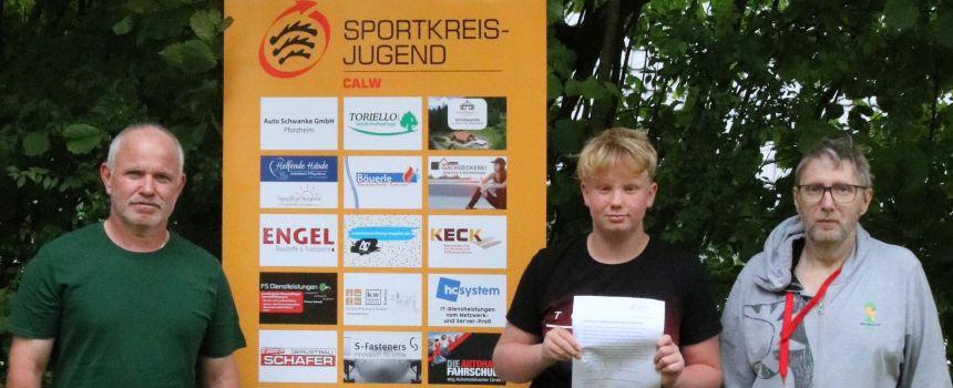 Jannik Mehl neuer SKJ Calw - Jugendsprecher